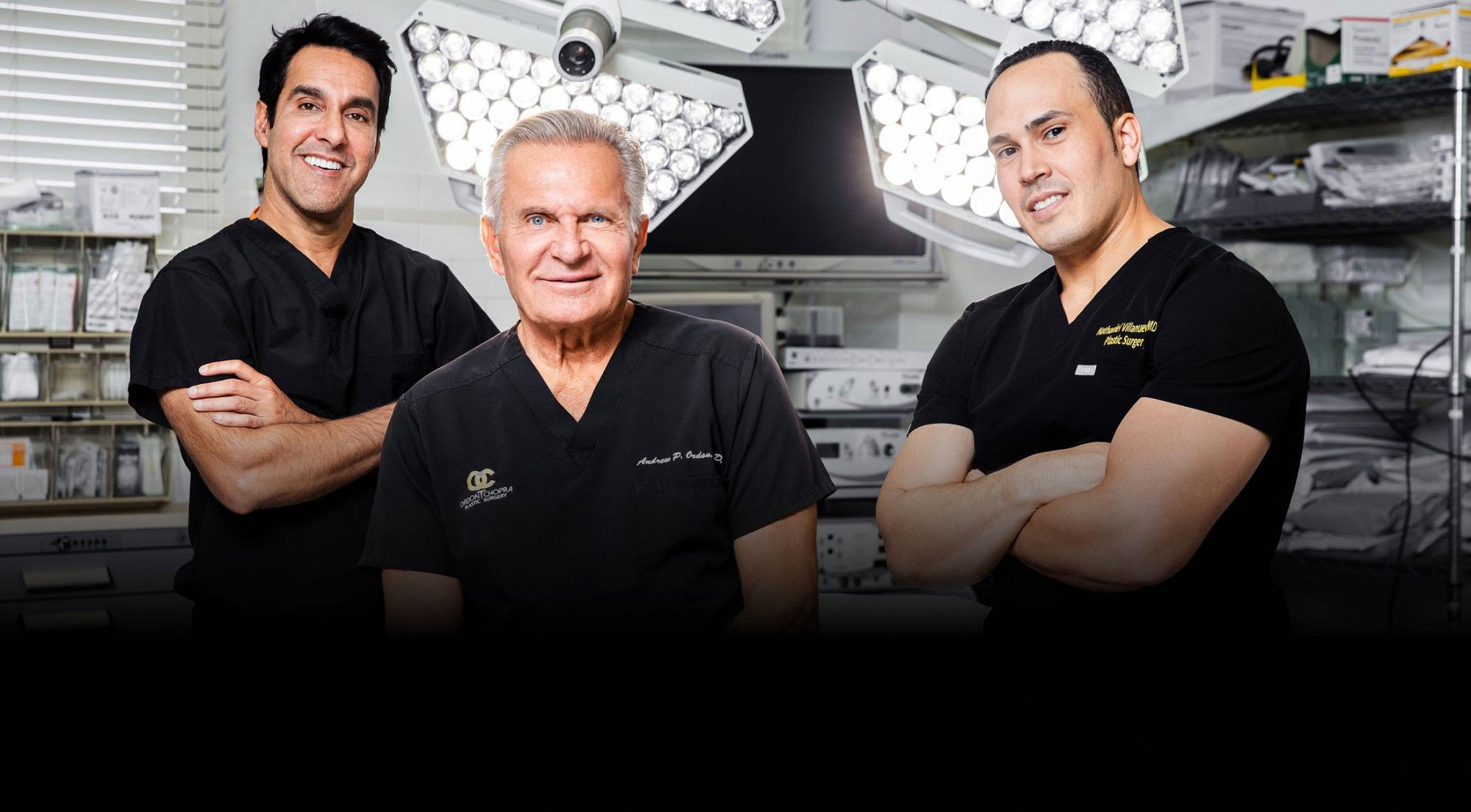 Beverly Hills Plastic Surgeons, Dr. Chopra, Dr. Ordon, and Dr Villanueva